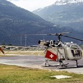 Aérospatiale Alouette II HB-XLG at Sion Airport, Switzerland