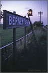 20 Berney Arms Station name and lamp at twilight