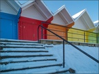 Beach Huts in the Snow