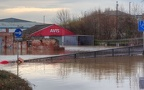 Avis in Layerthorpe from Foss Bank, York flooding, Dec 2015