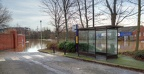 Foss Bank Bus Layby, York flooding, Dec 2015